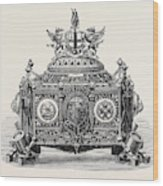 Casket Presented To Prince Arthur With The Freedom Wood Print