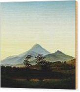 Caspar David Friedrich Bohmische Landschaft Wood Print