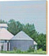 Cass County Farm Wood Print