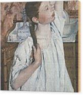 Cassatt, Mary Stevenson 1845-1926. Girl Wood Print