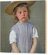 Cassatt's Child In A Straw Hat Wood Print