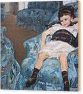 Cassatt's Little Girl In A Blue Armchair Wood Print