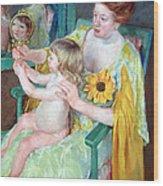 Cassatt's Mother And Child Wood Print