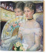 Cassatt's The Loge Wood Print