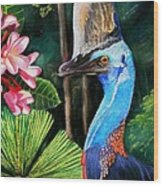 Cassowary- King Of The Rainforest Wood Print