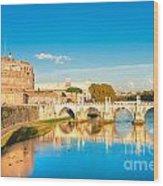 Castel Sant'angelo - Rome Wood Print