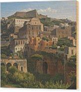 Castel Sant'elmo From Chiaia. Naples Wood Print