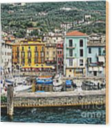 Castelleto Harbor.italy Wood Print
