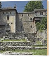 Castello Visconteo Wood Print