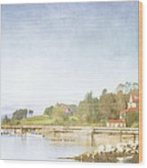 Castine Harbor Maine Wood Print
