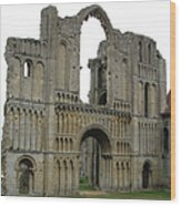 Castle Acre Abbey Wood Print