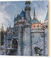 Castle And Clouds Wood Print