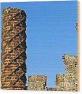 Castle Brickwork Wood Print
