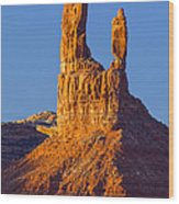 Castle Butte Wood Print