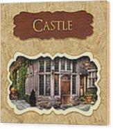 Castle Button Wood Print