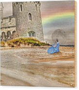 Castle By The Sea Wood Print