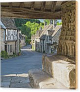 Castle Combe - View Wood Print