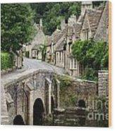Castle Combe Cotswolds Village Wood Print