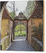 Castle Gate Rothenburg Ob Der Tauber Wood Print
