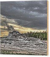 Castle Geyser - Yellowstone Wood Print