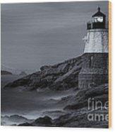 Castle Hill Lighthouse Bw Wood Print