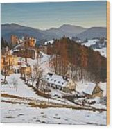 castle in northen Slovakia Wood Print
