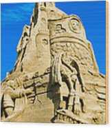 Castle In The Sand Wood Print