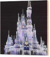 Castle In Winter Wood Print