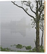 Castle Kilchurn Tree Wood Print