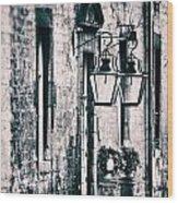 Castle Lamps Wood Print