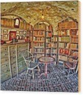 Castle Map Room Wood Print by Susan Candelario