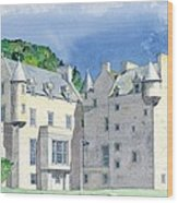 Castle Menzies Wood Print