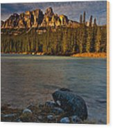 Castle Mountain Wood Print