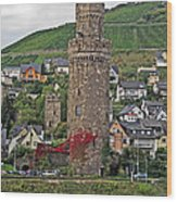 Castle Of The Rhine Wood Print