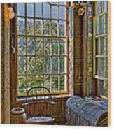 Castle Office Wood Print