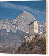 Castle On A Hill In Switzerland Wood Print