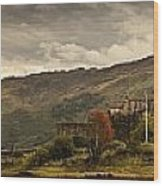 Castle On A Hill Kyle Of Lochalsh Wood Print