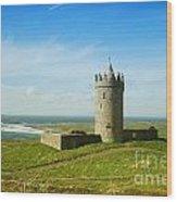 Castle On The Coast Of Ireland Wood Print