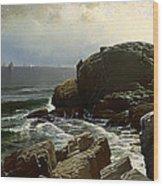 Castle Rock At Marblehead Wood Print