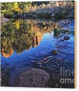 Castle Rock Reflection Wood Print