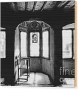 Castle Room With Chair Bw Wood Print