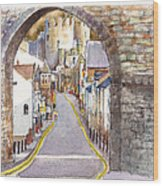 Castle Street Conwy North Wales Wood Print