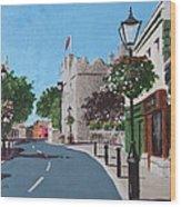 Castle Street Dalkey Wood Print