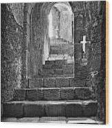 Castle Subterranean Staircase Wood Print
