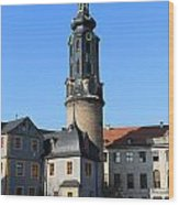 Castle Tower And Castle Weimar Wood Print