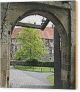 Castle Vischering Archway Wood Print
