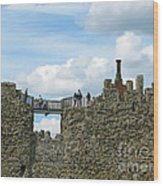 Castle Wall Walk Wood Print
