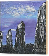 Castlenalact Standing Stones Wood Print