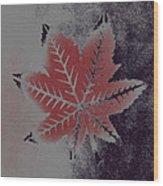 Castor Leaf Wood Print