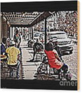 Casual Dining Wood Print
